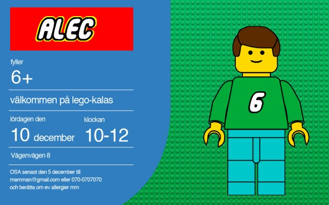 Mini Piccolini | LEGO theme birthday party and custom DIY invitation