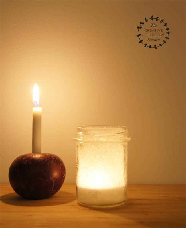 Mini Piccolini | Make sugar-frosted jam jar lanterns and red apple candle holders for a truly Scandinavian Christmas