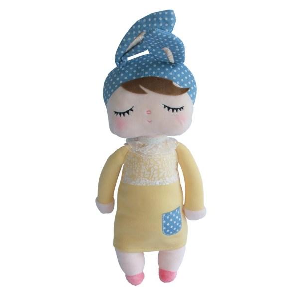 kanindocka doll blauw