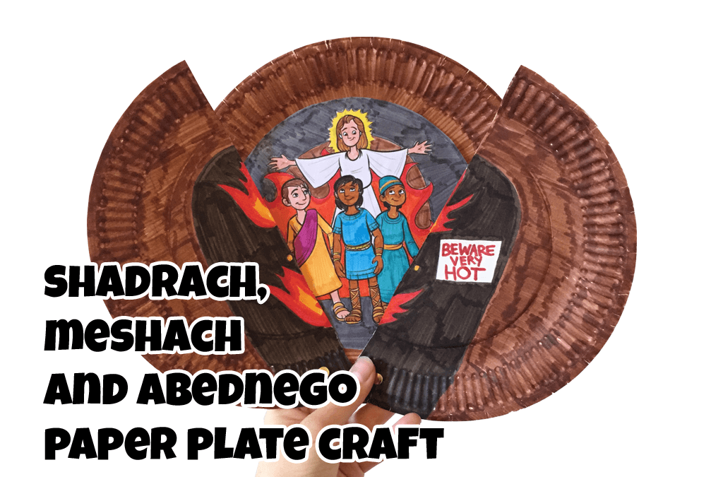 shadrach meshach and abednego paper plate craft ministryark