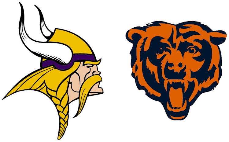 Graphic of Vikings & Bears Logos