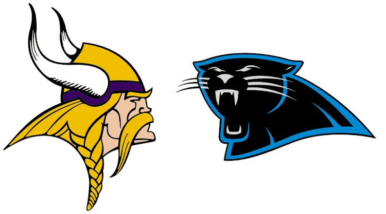 Graphic of the Vikings & Panthers logos