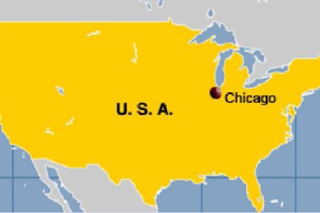 where is chicago located on the united states map