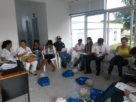 Taller HOPE (RCP sólo compresiones) para Brigada de Emergencias del Hospital de Mocoa