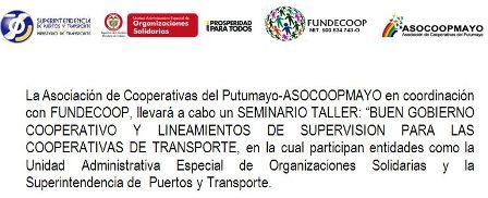 """Seminario Taller """"Buen gobierno cooperativo y lineamientos de supervisión para las cooperativas de transporte"""""""