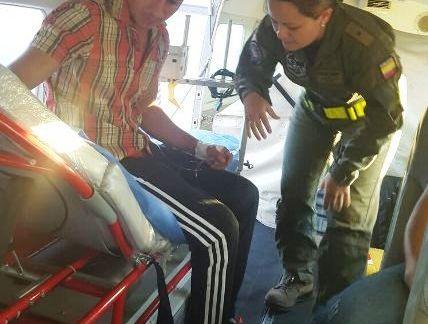Fuerza Aérea realiza traslado aeromédico de un habitante del Municipio de Puerto Leguízamo