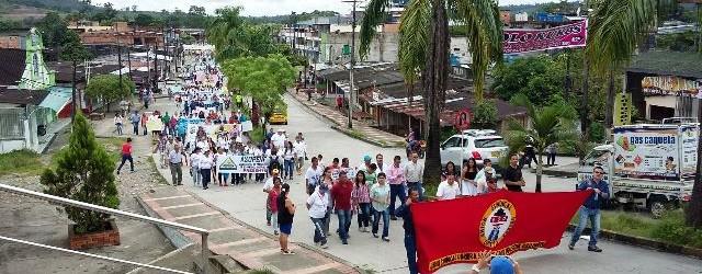 Marcha de Orito exigió más empleo al Putumayo