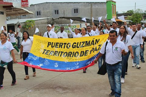Puerto Guzmán dio ejemplo de respaldo a la Paz
