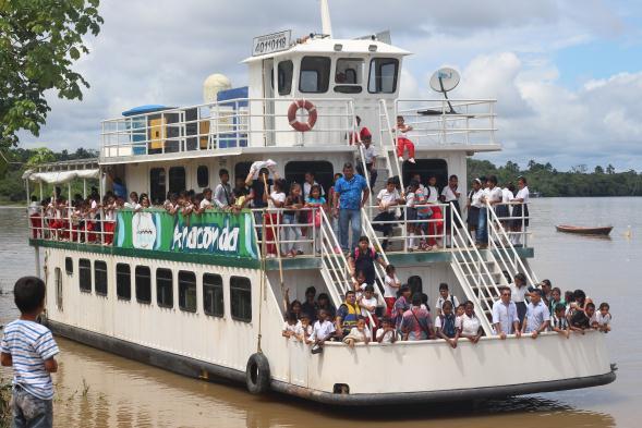 Así recibió Puerto Ospina la visita de Anaconda