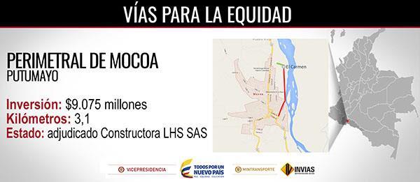 Entre 51 oferentes, Constructora LHS SAS ganó contrato de Perimetral de Mocoa