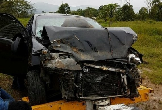 Grave accidente de tránsito sufrió el diputado de la U, Diego Guerrero