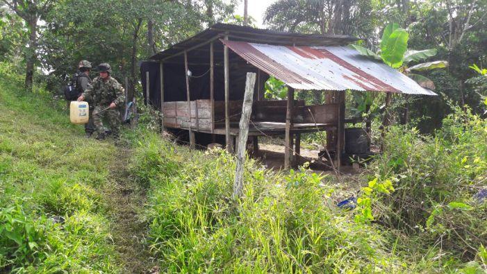 Localizados y destruidos laboratorios para el procesamiento de base de coca en el Putumayo