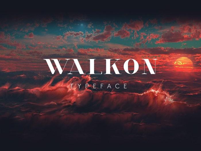 Walkon Fire Font Download