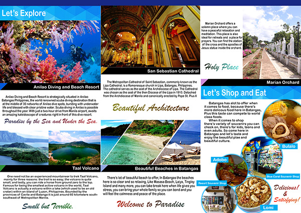 Sample Of A Travel Brochure Phils   Find Your World Philippine Travel Brochure Sample Find Your World