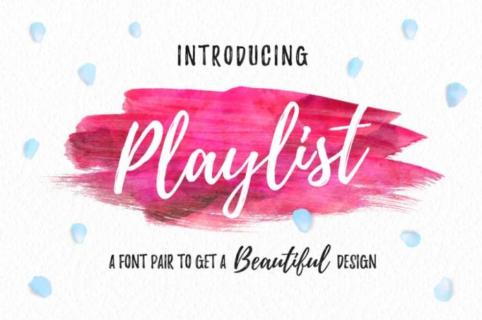 Playlist Font Download