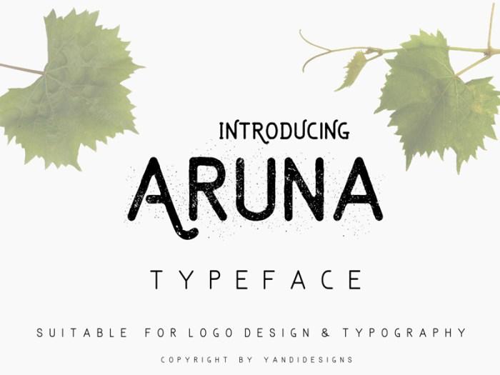 Aruna Typeface Font Download