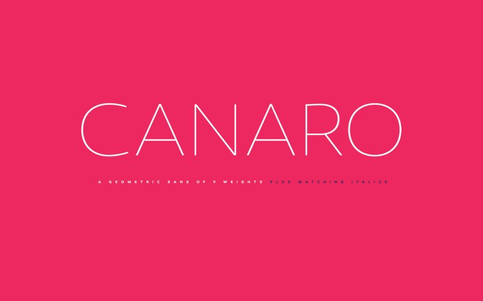 Canaro Font Download