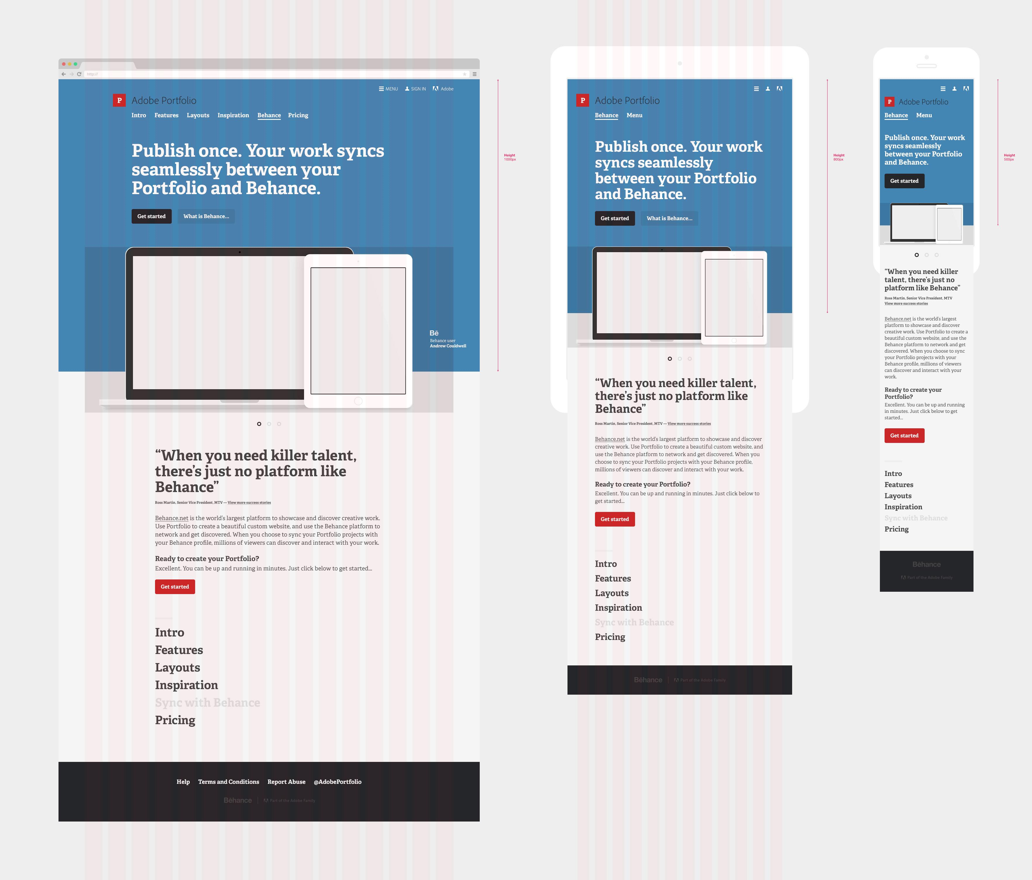 Engaging Adobe Portfolio Marketing Site On Behance Adobe Pdf Portfolio Examples Adobe Spark Portfolio Examples dpreview Adobe Portfolio Examples