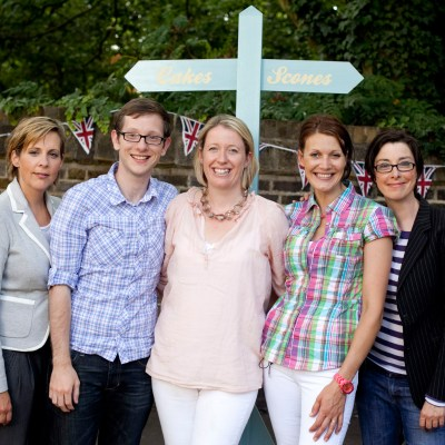The finalists with Mel and Sue