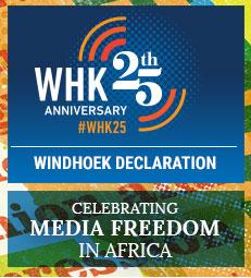 Windhoek Declaration 25th Anniversary Banner