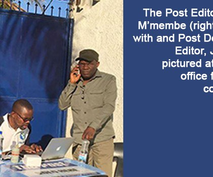 Police Arrest Post Newspaper Editor in Chief and two others; newspaper remains closed