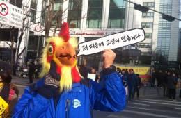 닭가면 '저때문에 고생이 많습니다'사진 /다홍