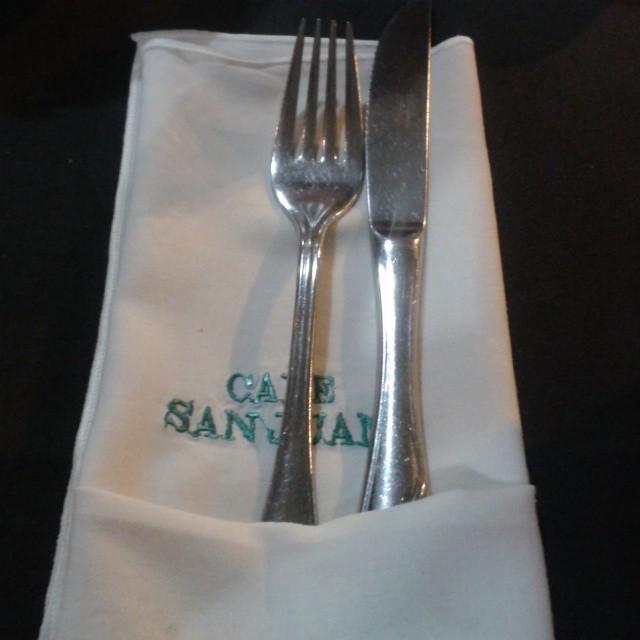 Canelones de molleja en Café San Juan - Buenos Aires