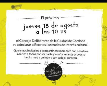 Blog de recetas será de interés cultural en Córdoba
