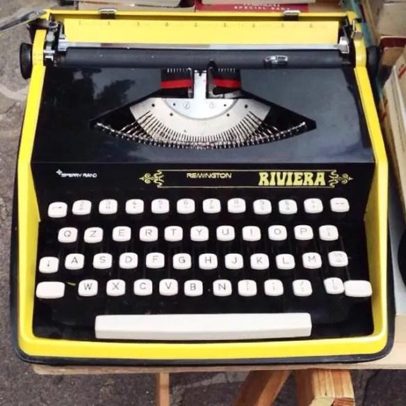 Typewriter at the flea market