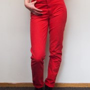 red mom jeans denim vintage fashion