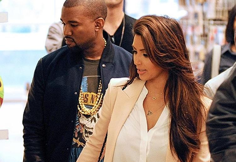 kanye west and kim kardashian 2012