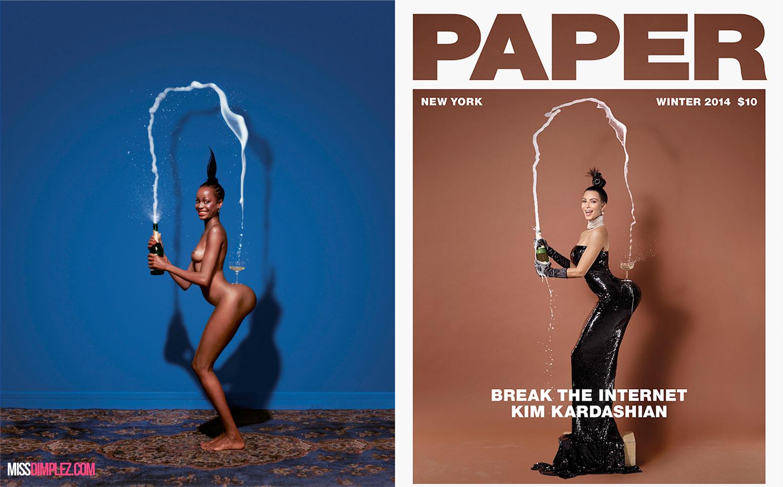 kimkardashiangracejonesjeanpaulgoudepapermagazine