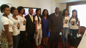 With the AMbassador of the Republi of Guinea