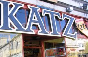 The Katz store front after the recent removal of its legendary hanging bagel.