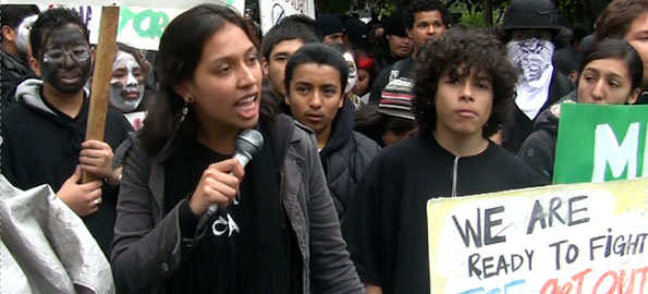 Young protesters in 2008.