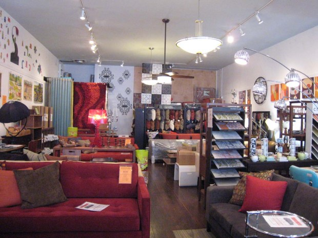The interior of Therapy's furniture store. The shop on Valencia Street will be closing after 13 years of business.