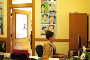 Dannielle Kronenberg hard at work in Supervisor John Avalos' office