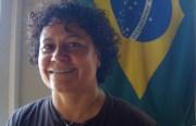 Mestranda Márcia Treidler at her ABADÁ-Capoeira studio.