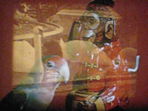An example of a still from a live film mix by Stephen Parr.