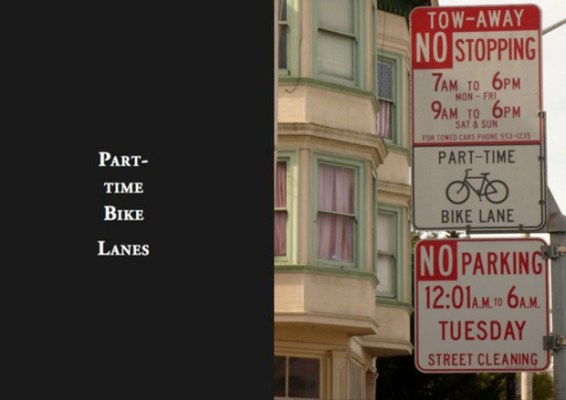 Currently, there are only part-time bike lanes in which bicyclists must share a lane with motorists. 8 percent of collisions on Cesar Chavez Street involve bicycles.