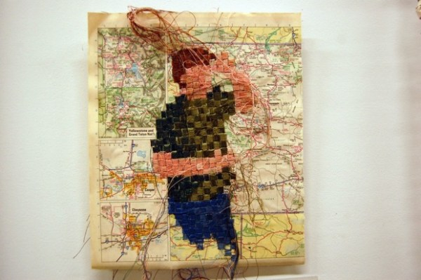 """""""Books, maps and thread. That's kind of my thing,"""" says Ehren Reed."""