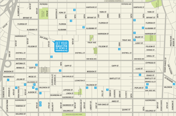 Click here for a printable map of the Mission's art galleries.