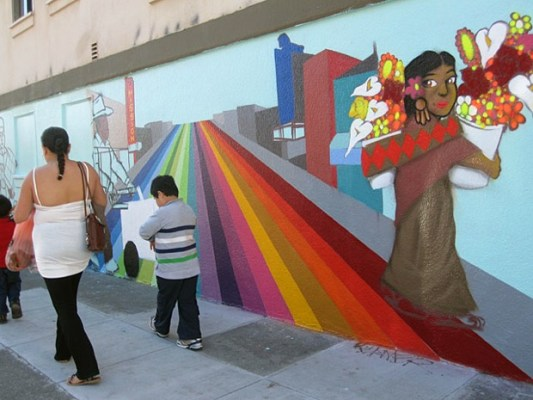 On 23rd Street, a new mural is going up just east of Capp Street.
