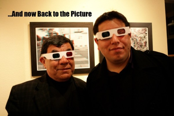 Rene Yanez, artist and curator extraordinaire, and his son Rio, also an artist and designer, show-cased 3-D Art.