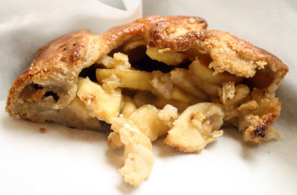 The tour started with samples from Mission Pie, including this apple galette.
