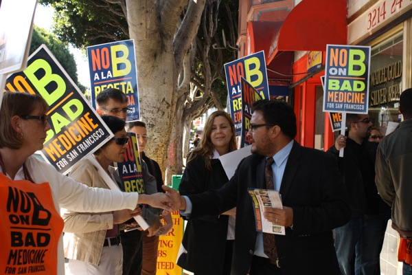 """District 9 is going to come out strong to vote No on B"" Supervisor Campos said."