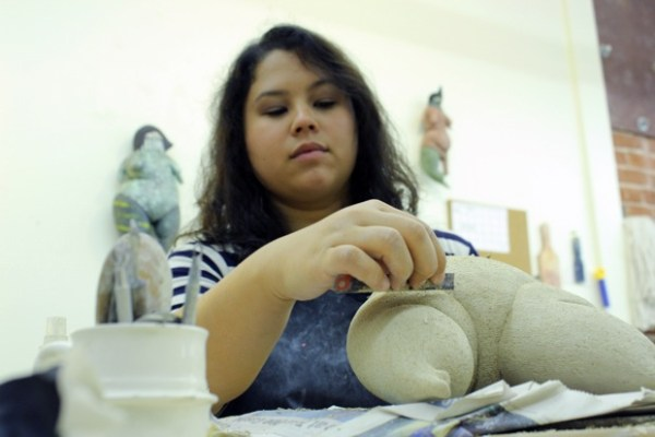 """""""She's a misfit, deformed. She's not what society expects us to be – not sweet and everything nice,"""" Shannon Abac said of one of her ceramic pieces."""