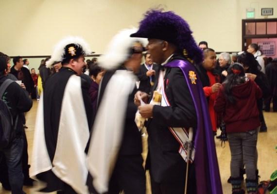 These gentlemen were part of the mass.