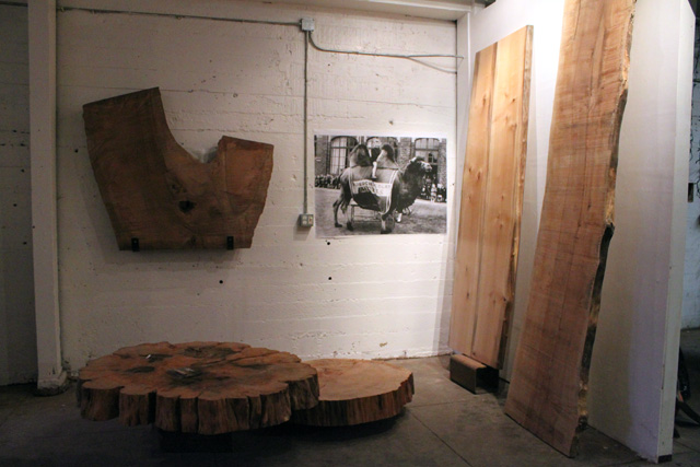 Art reclaimed wood and custom furniture at 724 valencia for Local reclaimed wood