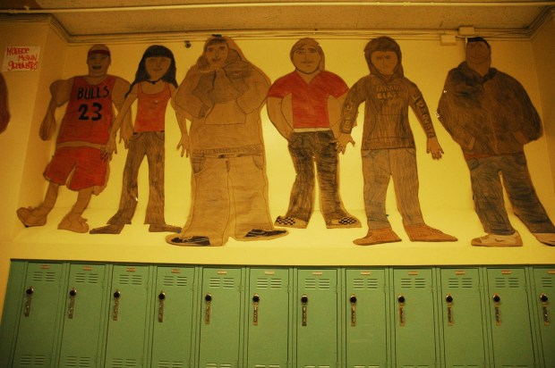 Artwork in the halls of Horace Mann. Photograph by Garrett McAuliffe